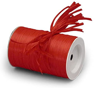 Best Red Raffia Ribbon For Gift Wrap Craft Packaging and Decoration