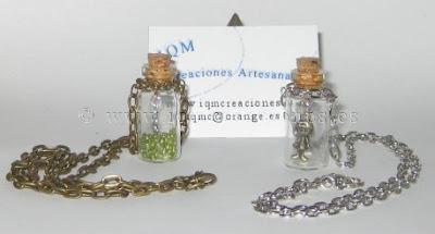 Colgante botella con cadena
