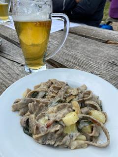 Rifugio Grassi - plate with pizzoccheri.