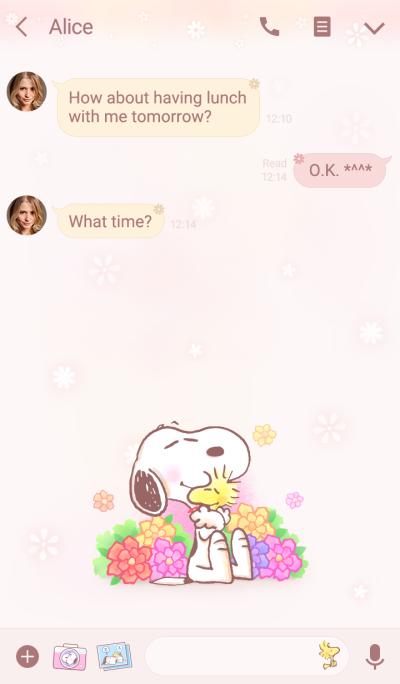 史努比~暖心柔花~