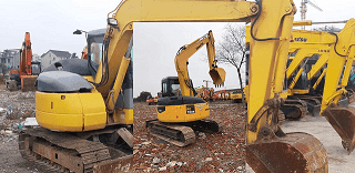 Jasa Import Alat Berat Mesin Bekas Excavator Komatsu PC 78 US dari China Ke Surabaya