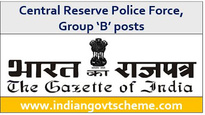 Central Reserve Police Force, Group 'B' posts