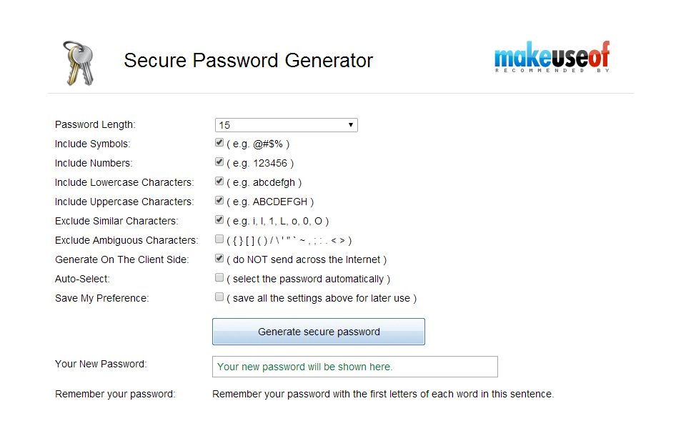 generate random password