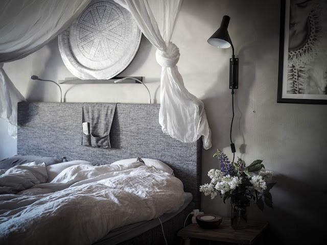 Boheemi sisustus makuuhuone