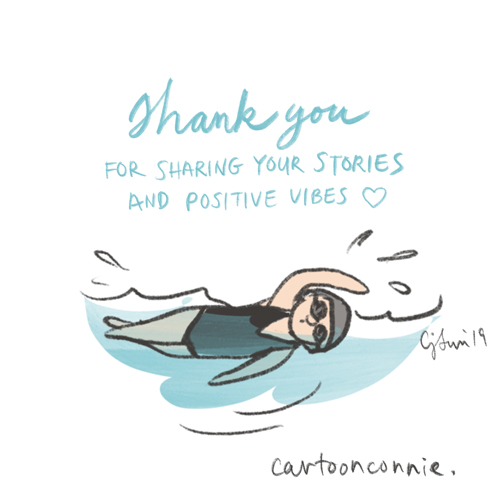illustration, swimming, comics, cartoonconnie, connie sun