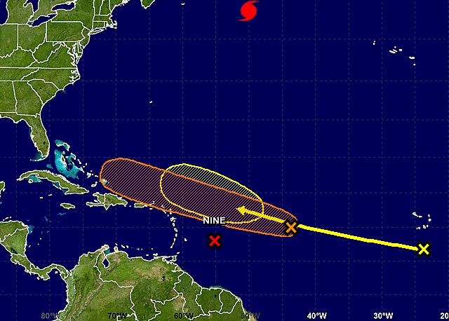U.S.  forecaster says 40 percent chance of cyclone east of Lesser Antilles