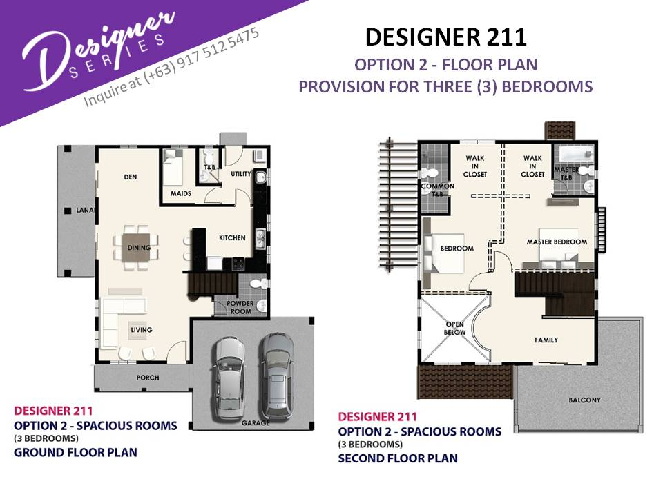 Option 2 - Floor Plan of Levanzo at The Island Park - Designer 211 | House and Lot for Sale Dasmarinas Cavite