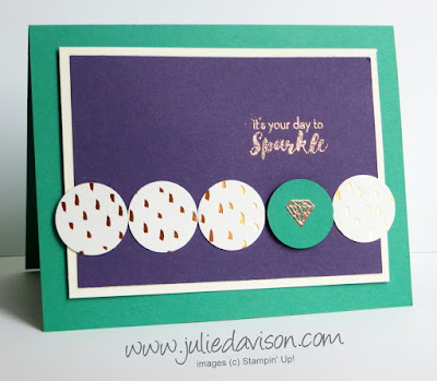 3 Alternative Projects for July 2016 What a Gem Paper Pumpkin Kit #paperpumpkin #stampinup www.juliedavison.com