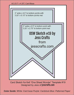Sketch for One Sheet Wonder Template #19 by Jess Crafts