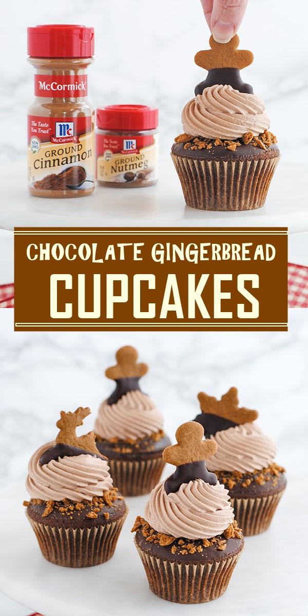 CHOCOLATE GINGERBREAD CUPCAKES #cupcakerecipes