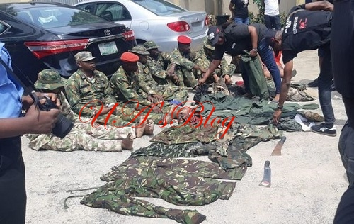 Dismissed Soldiers Arrested For Alleged Armed Robbery In Lagos