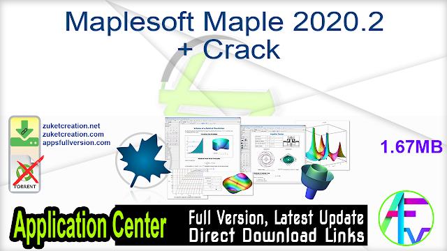 Maplesoft Maple 2020.2 + Crack