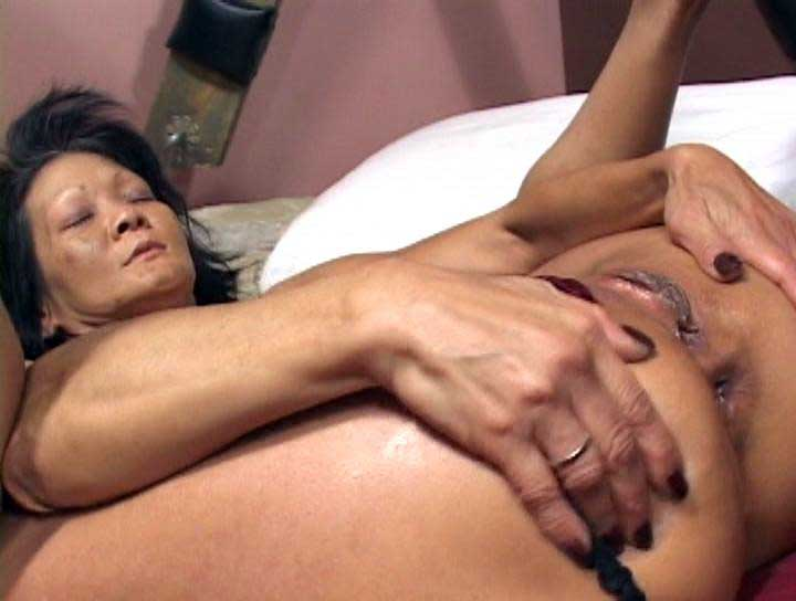 Asian anal granny