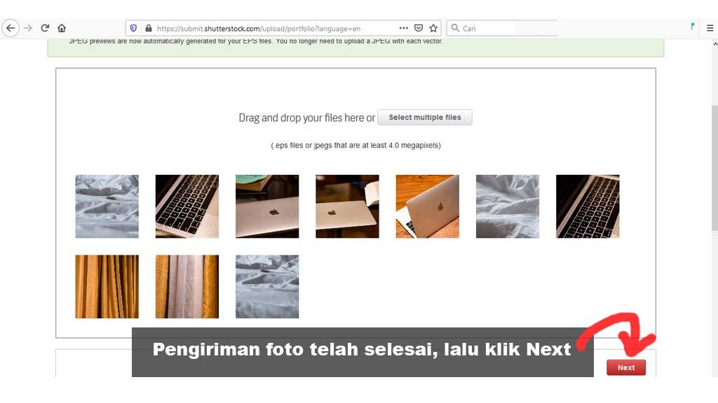 Fajriology.com - proses pengiriman foto telah selesai oleh shutterstock