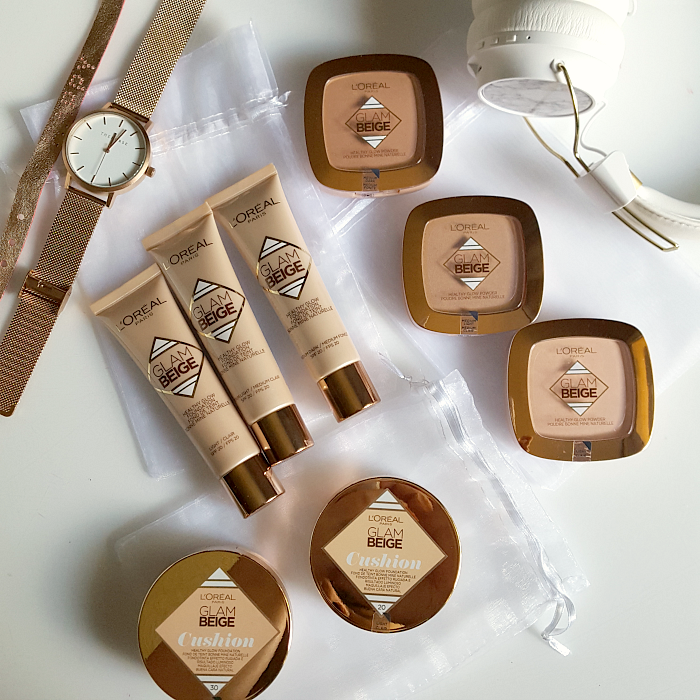 Review & Swatches: L´Oréal Paris - Glam Beige Healthy Glow Cushion, Foundation & Powder