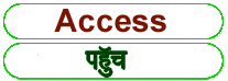 Access meaning in HINDI