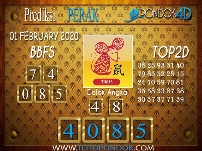 Prediksi Togel PERAK PONDOK4D 01 FEBRUARY 2020