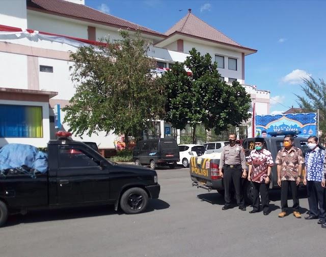 Pelepasan Bantuan Berupa Sembako Yang Kena Dampak Positif Covid-19, ke Cipatujah