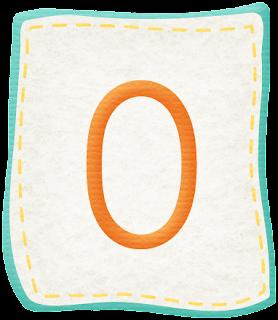 Abecedario dentro de Parches de Tela Celeste. Alphabet inside Patches of Light Blue Cloth.