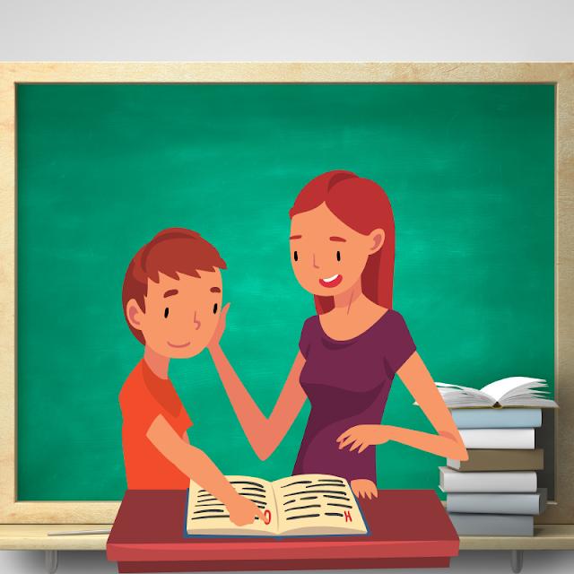 Gambar Kartun Anak Belajar di Rumah (9)