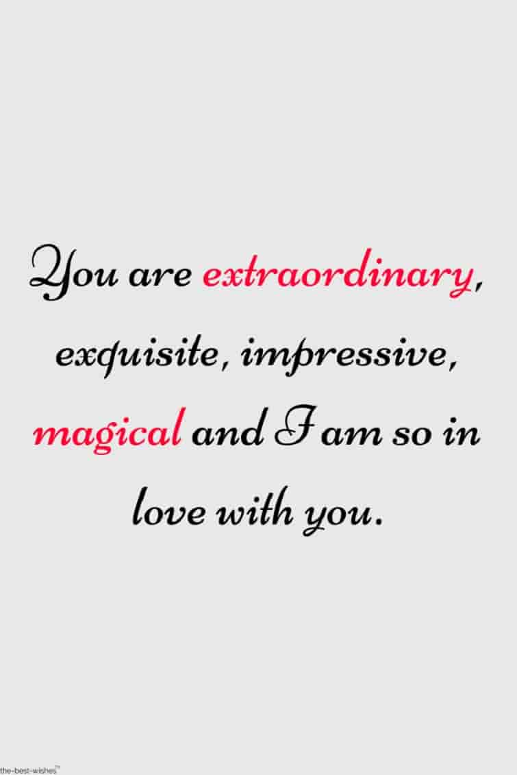 extraordinary love quote for gf