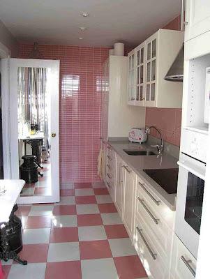 Decoração da Cozinha em cor de rosa
