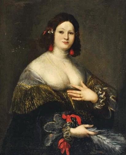 Girolamo Forabosco (1605-1679) Portrait of a Woman Half Length