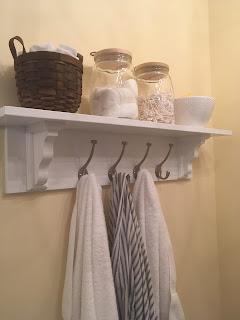 Cottage Style Bathroom Shelf