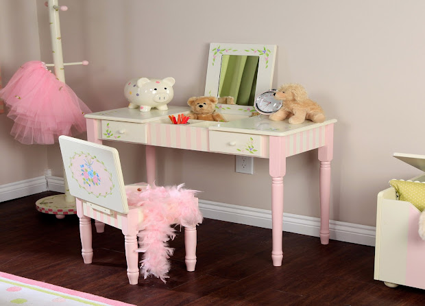 Girls Vanity Table And Chair - Felish Home Project