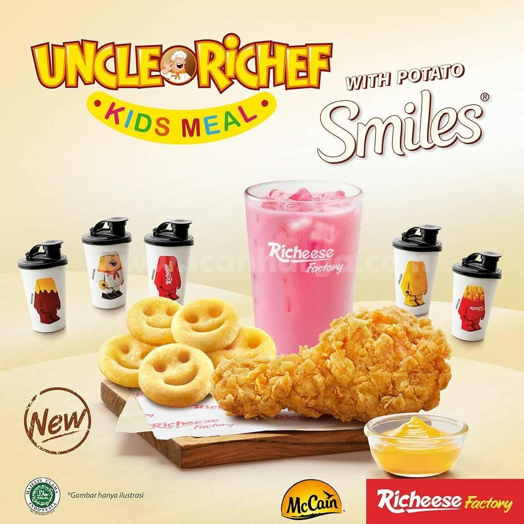 Baru! Richeese Factory Potato Smiley berlaku mulai 4 Januari 2021.