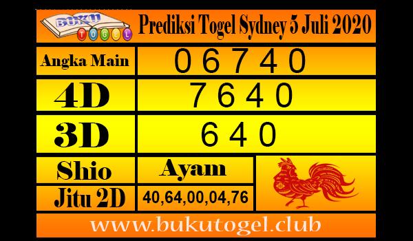 Prediksi Togel Sydney 5 Juli 2020