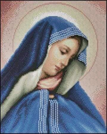 wzory świętych obrazków krzyżykami