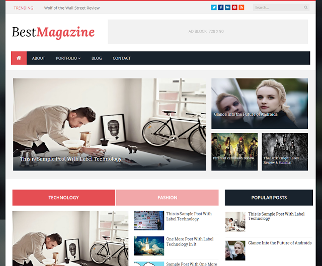 Best Magazine Responsive Blogger Template