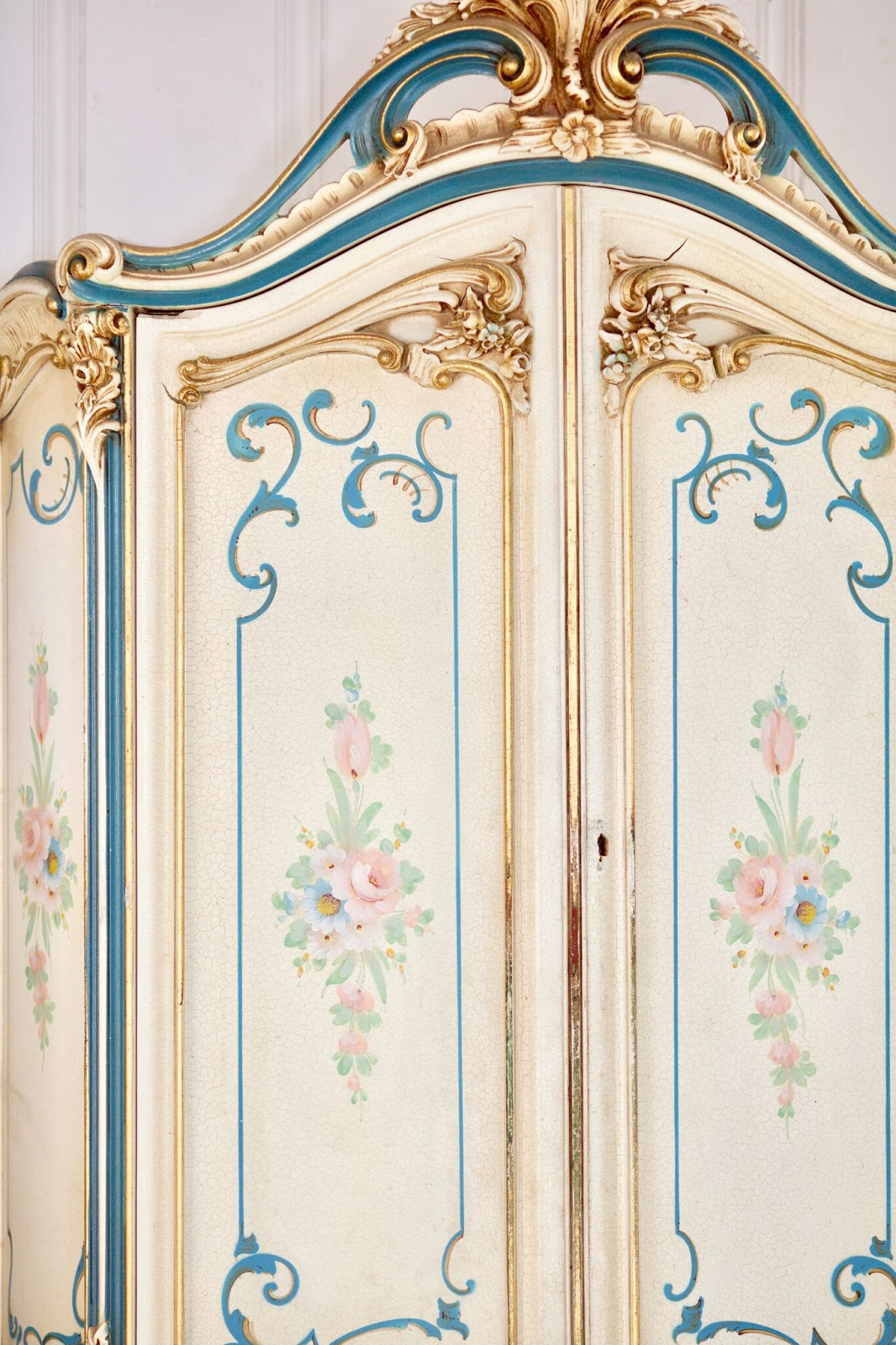 Close up armoire view- French Country Cottage book