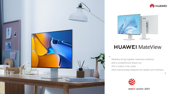 Huawei MateView ganha prémio Red Dot para Product Design 2021