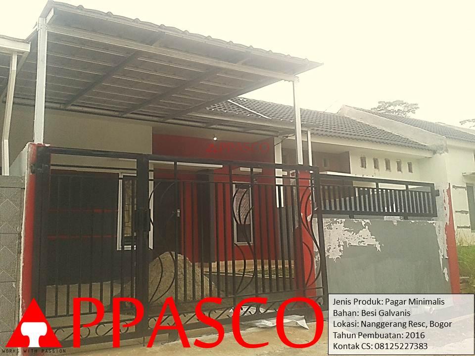 Pagar Minimalis Galvanis di Nanggerang Residence Bogor