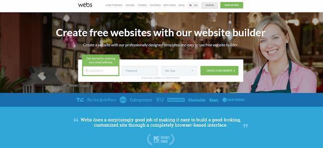 Webs a Platform to create a free blog or make a free Web page websites