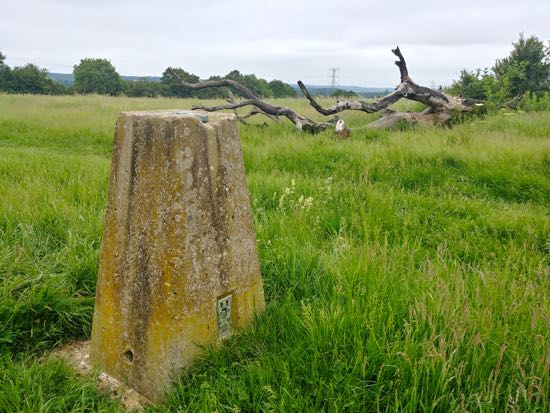 Image: The trig point pillar north of Welham Green Image by the North Mymms History Project released under Creative Commons BY-NC-SA 4.0