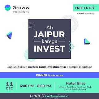 Groww presents ab Jaipur karega invest program