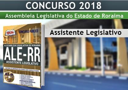 Concurso ALE-RR 2018 Assistente Legislativo
