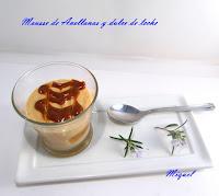 Mousse de avellanas y dulce de leche