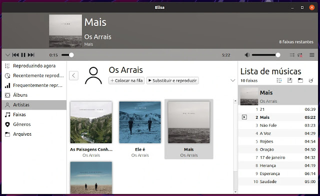 music-player-elisa-kde-música-linux-kubuntu-ubuntu-flatpak-interface-qtt