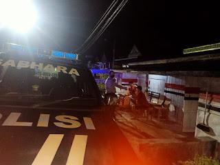 Antisipasi Kejahatan Malam Hari, Personel Polsek Maiwa Polres Enrekang Laksanakan Patroli Malam