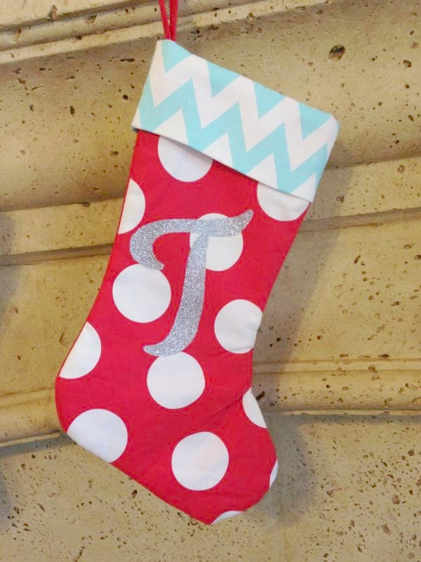 Cricut Monogrammed 't' stocking
