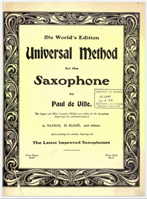 Universal Method for the Saxophone by Paul de Ville