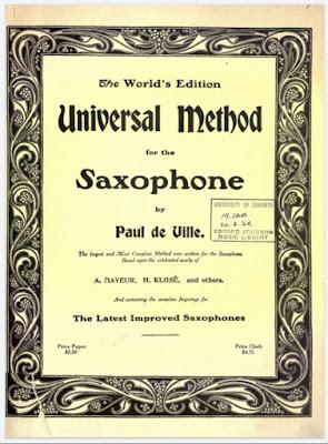 Universal Method for the Saxophone by Paul de Ville