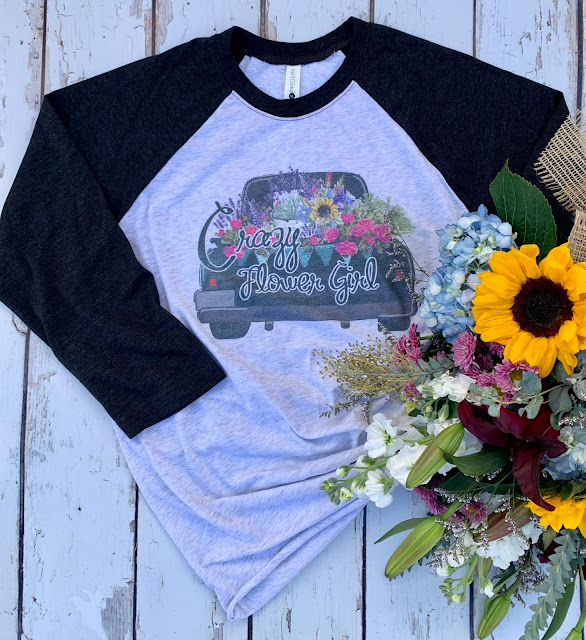 Crazy Flower Girl Tee for the flower and plant lover