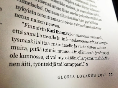 Glora Magazine Kati Ihamäki Lotta Backlund