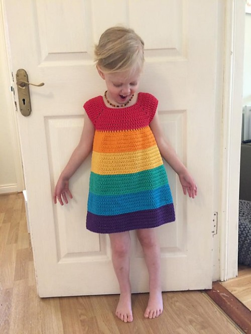 Rainbow Dress - Free Pattern