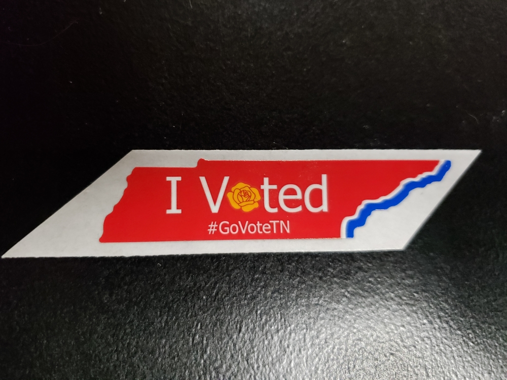 I Voted (Tennessee) sticker